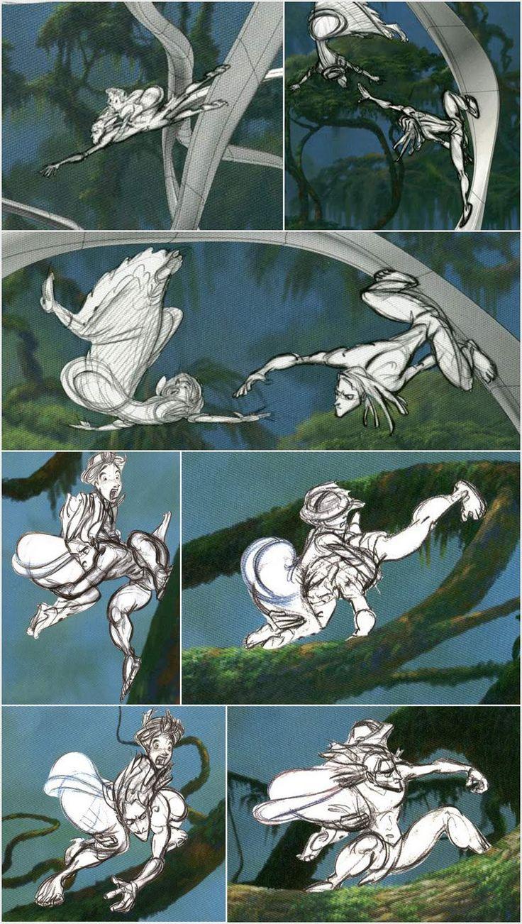 Living Lines Library: Tarzan - Storyboards, Storyboard Sketches