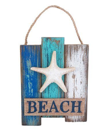 This Starfish 'Beach' Wall Plaque is perfect! #zulilyfinds