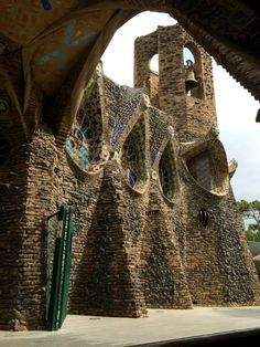 A Day Trip From Barcelona, Spain – Colonia Güell And Gaudi's Crypt, in Santa Coloma de Cervello, Catalonia, Spain