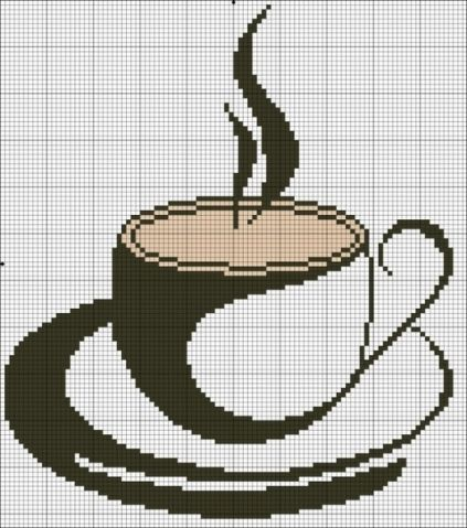 Вышивка для любителей кофе. Схемы. / Вышивка / Схемы вышивки крестом, вышивка крестиком