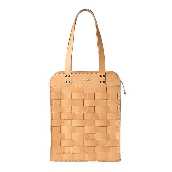 Eduards - Big Leather Shoulder Bag Nature   ENIITO