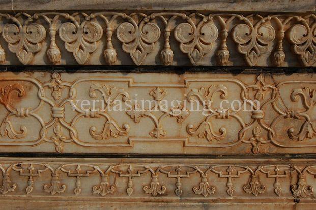 india-taj-mahal-carved relief work