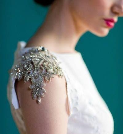beautiful embelishment on the shoulder | Saree blouse