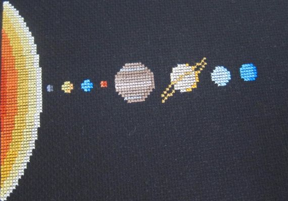 Solar System Cross Stitch Pattern by HugsAreFun on Etsy