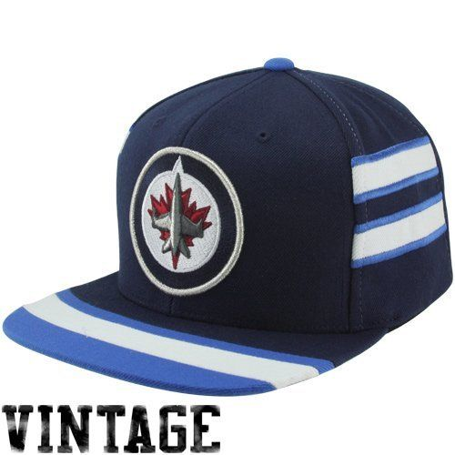 Mitchell & Ness Winnipeg Jets Vintage Team Jersey Adjustable Snapback Hat - Navy Blue by Mitchell & Ness. $21.88. Save 27% Off!