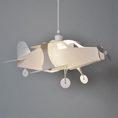 Boys #bedroom white aeroplane ceiling pendant #light lamp shade #lights #lampshade,  View more on the LINK: http://www.zeppy.io/product/gb/2/351306414088/