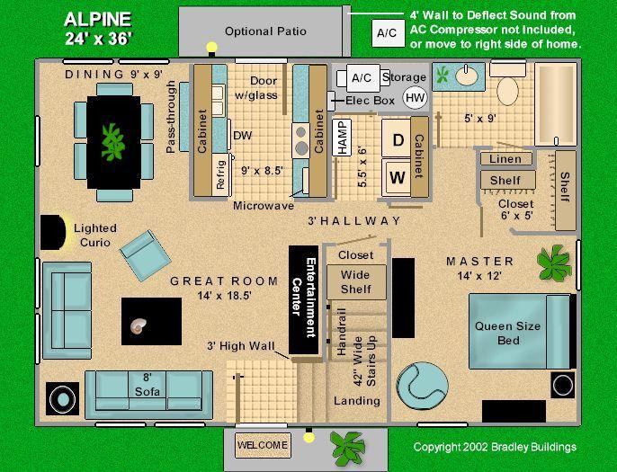 24 x 36 house plans alpine 24 x 36 three bedroom home - Upload floor plan and design free ...