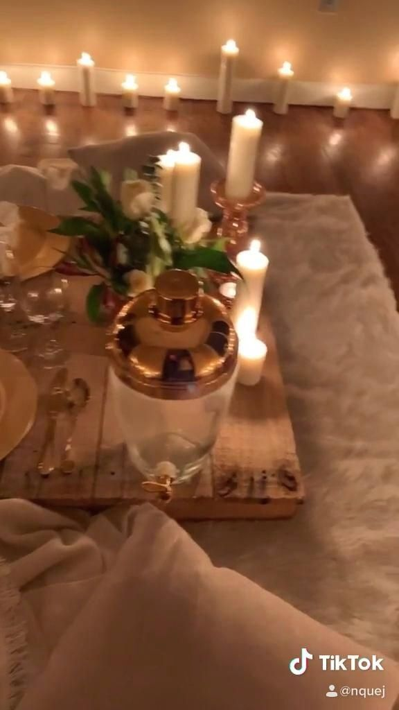 Pin On Romantic Dinner At Home Decorations