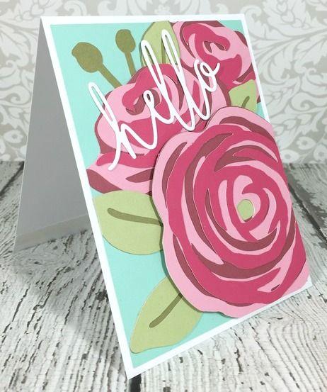 Courtney Lane Designs: Flower Market Hello card