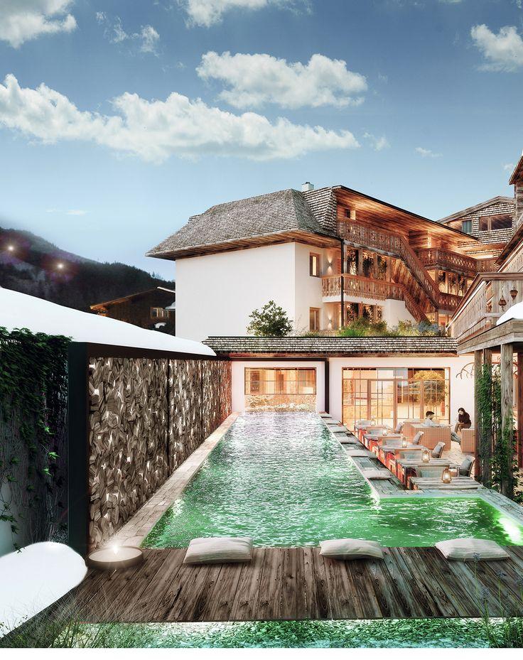 Hotel Eder| Designhotel | Maria Alm| Austria | http://lifestylehotels.net/en/hotel-eder | Exterior View | Pool | Luxury