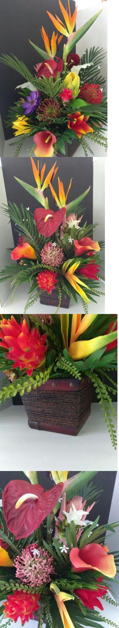 Floral D cor 4959: Tropical Silk Flower Floral Arrangement, Hotel Office Decor -> BUY IT NOW ONLY: $135.95 on eBay!