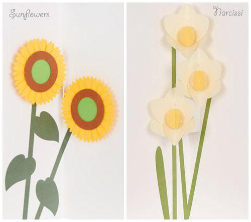 Lovely pop-up flowery cards from Muji | Flowerona
