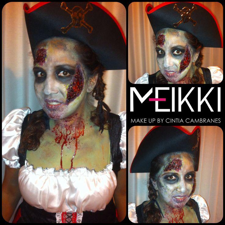 Zombie pirata por Meikki Make Up, MID, YUC, MEX.