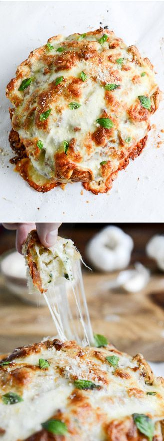 White Pizza Pull Apart Bread I howsweeteats.com