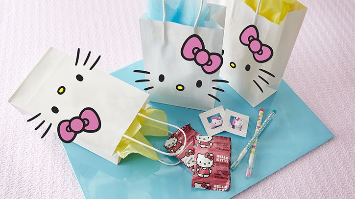 Leave a lasting impression with easy DIY Hello Kitty favor bags.