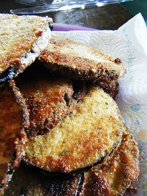 Perfect Fried Eggplant- A delicious side-dish or even just a snack. Quick and easy, albeit a little messy. ;)
