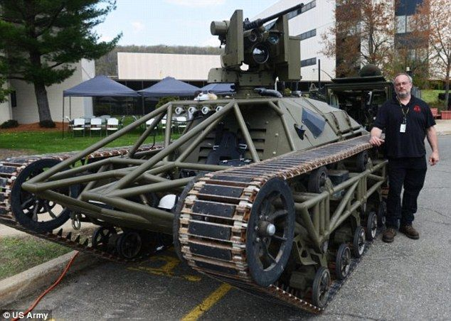 The drone TANK that could soon lead US troops into battle: Army bosses reveal robotank has already been tested | The US Army has revealed it has been testing the vehicle, known as Ripsaw. The 'drone tank' is controlled remotely, and can reload itself and even change weapons at the touch of a button. [The Future of Drones: http://futuristicnews.com/tag/drone/ Future Military Technologies: http://futuristicnews.com/tag/military/ Future Wars: http://futuristicshop.com/category/future-wars/]