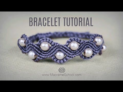 DIY Macramé Wave Bracelet with Beads   Tutorial - YouTube