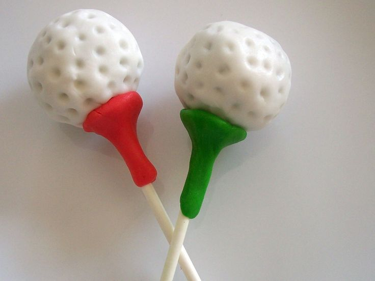 Flower Cake Pops Ideas | Cake Pop and Cake Ball Ideas: Golf Ball and Tee Cake Pops