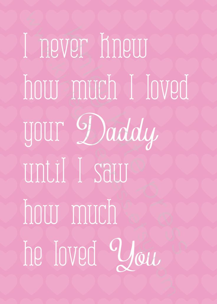 I never knew... Baby Girl Pink Print, Nursery Print, Baby GIRL, Fathers Day Gift, 5x7 Nursery Art. $12.95, via Etsy.