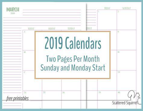 New Project Planning Printable Set Planners Pinterest Calendar