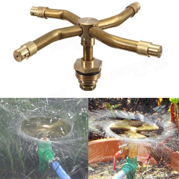 Us 5 90 1 2 Inch Brass Rotation Sprinkler Garden Lawn Watering Irrigation Spray Nozzle Inch Brass Rotation Sprinkler Garden Lawn Watering Irrigation