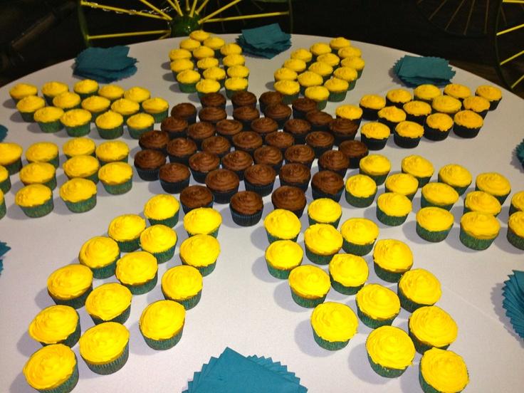 Sunflower cupcake table.