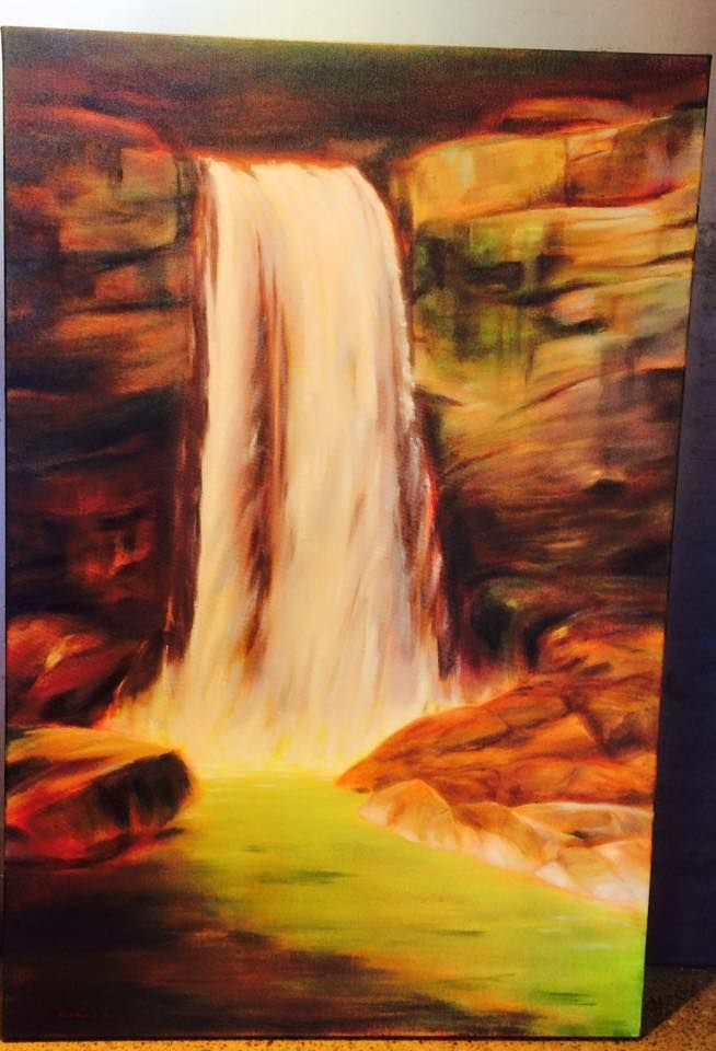 Water's Way by Heather Rendel - this vibrant piece is now in the gallery!