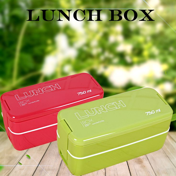 Nice 2Colors 750ml Double Layers Portable Microwave Lunch case  Eco-Friendly Bento case Food Containers Lunch case