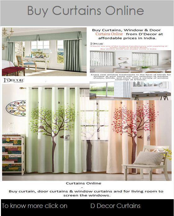 Buy #window & #doorscurtainsonline from D'Decor at ...