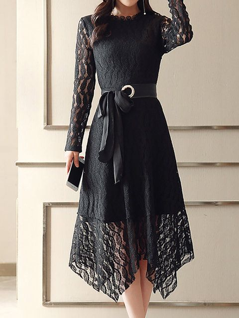 9b8f0c4a0e Online Shopping Stylewe Party Dresses Long Sleeve Formal Dresses Daily  Asymmetrical Stand Collar Guipure Lace Elegant Dresses