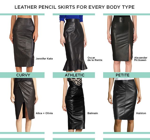 Leather Pencil Skirts for Every Body Type