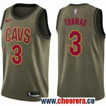 76beb317f Men s Nike Cleveland Cavaliers  3 Isaiah Thomas Green Salute to Service NBA  Swingman Jersey