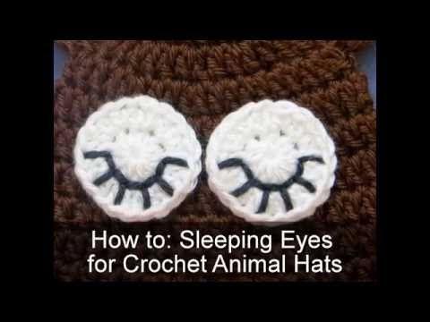Crochet Sleeping Eyes | Crochet To Z - All things crochet: tutorials, patterns, finished goods