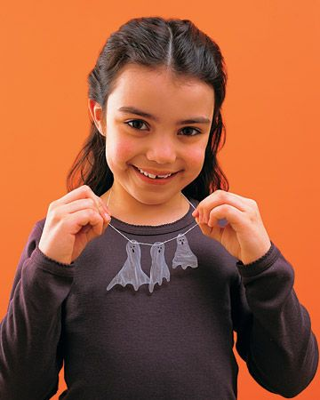 Kid's Craft: Ghost Necklace