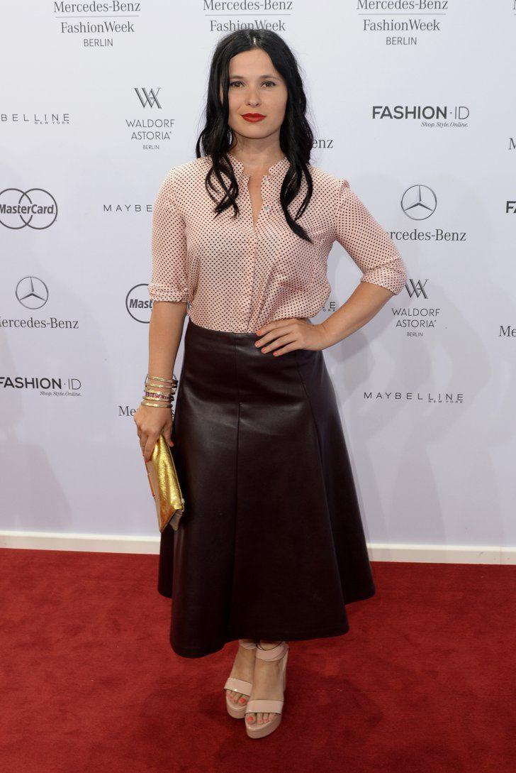 Pin for Later: Die Stars machen Berlin zum Mode-Mekka bei der Fashion Week Anna Fischer bei der Schau von Guido Maria Kretschmer
