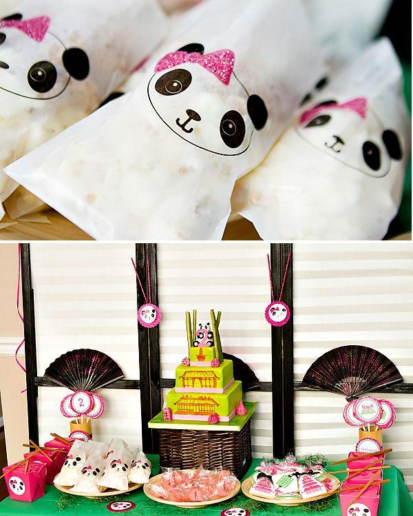 Panda Party - Asian Theme - Bamboo, Fans, Take-Out Boxes, Chopsticks