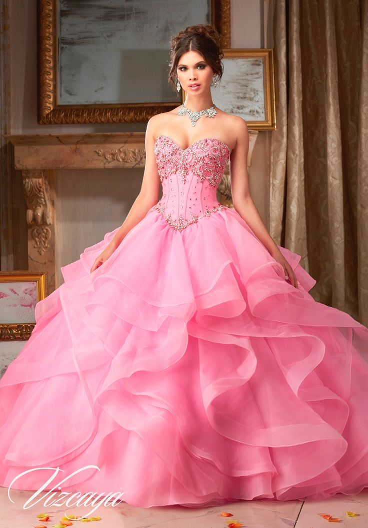 1512 best i love pink images on pinterest prom gowns for Mori lee pink wedding dress