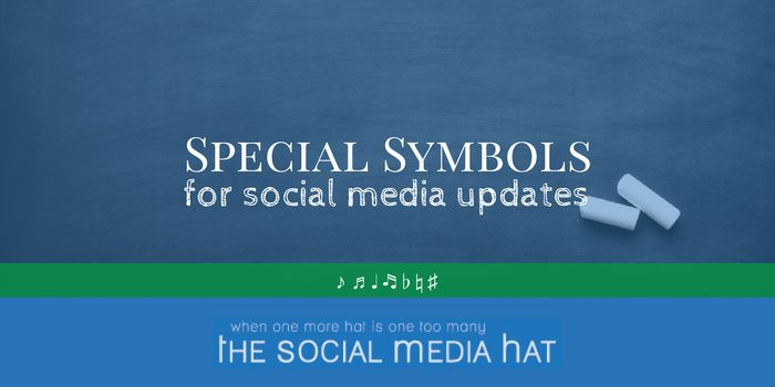 Special Symbols for Social Media Updates - symbols like ☼ ☀ ❂ ☁ ☂ ☃ that you can use in your posts. | #SocialMedia