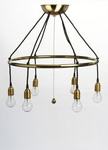 Adolf Loos Chandelier in plated brass or polished chrome.