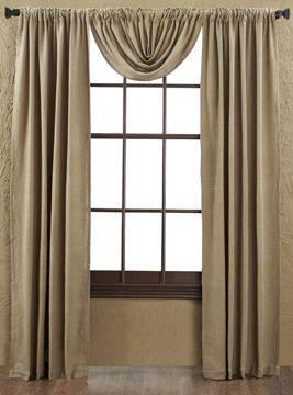 "Burlap Natural Panel Curtains 84"""