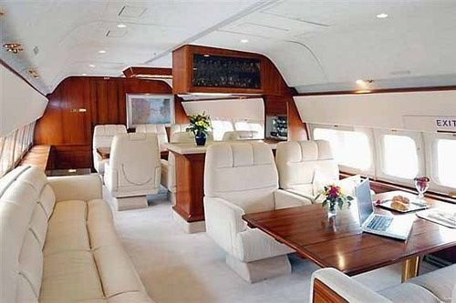 the inside of a private jet.. in case i ever want to get away