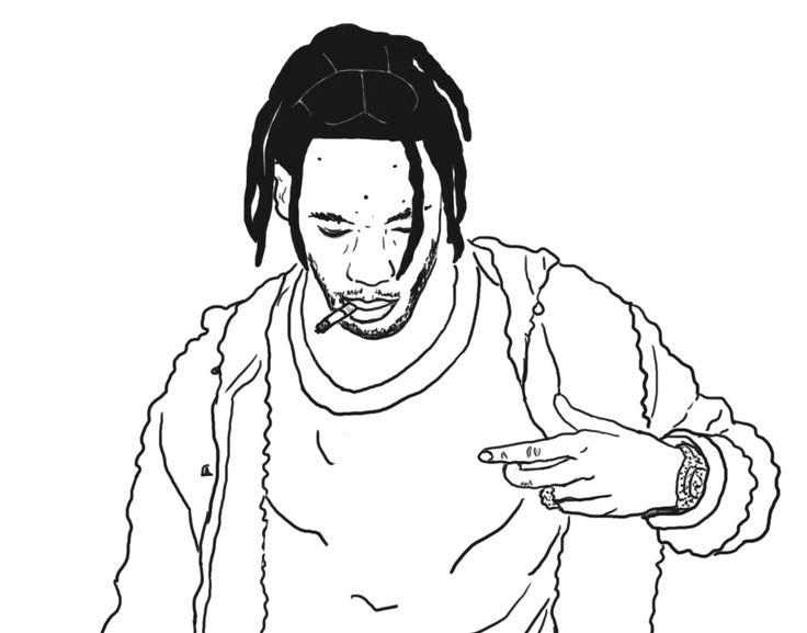 Swag Girl Wallpaper Iphone 1017cutie Quick Drawing Of Travis Scott La Flame In