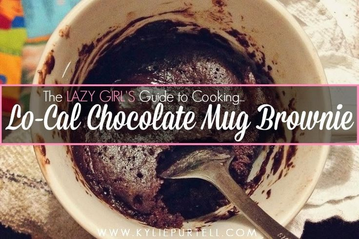 Kylie Purtell - Capturing Life: Low Calorie Chocolate Brownie in a Mug | Food