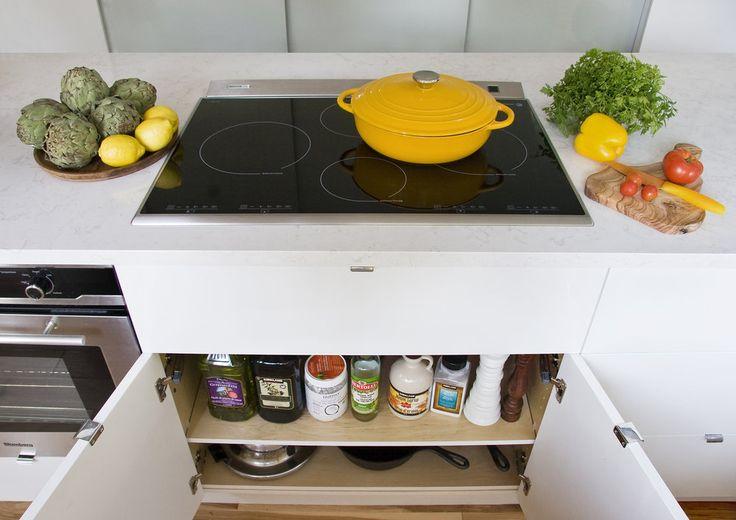 under cooktop oils storage