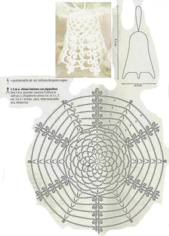 DIY Handmade: Dzwonki na szydełku - 19 wzorów i schematów