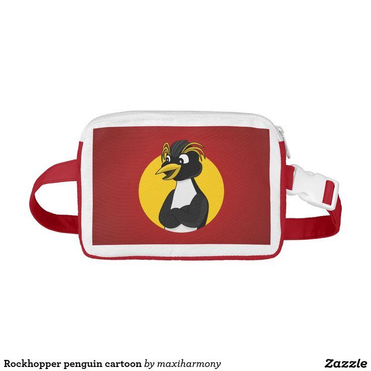 Rockhopper penguin cartoon nylon fanny pack