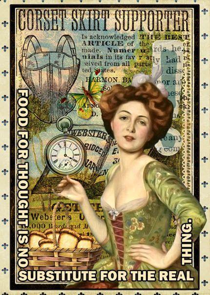 AlterNative_ATC_Food-SM artist trading card from digital scrapbook place