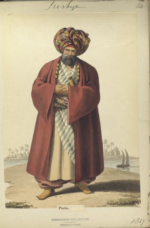 Pasha. The Vinkhuijzen collection of military uniforms / Turkey, 1812. See McLean's Turkish Army of 1810-1815.