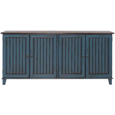 "Martin Furniture Eagon 72 inch TV Stand For Flat Screen TVs up to 70"", Blue"